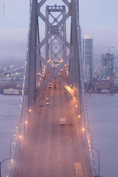 Photograph - San Francisco Bay Bridge In A Morning Fog by Alexander Fedin