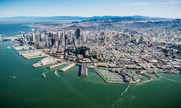 Wall Art - Photograph - San Francisco Bay Piers Aloft by Steve Gadomski