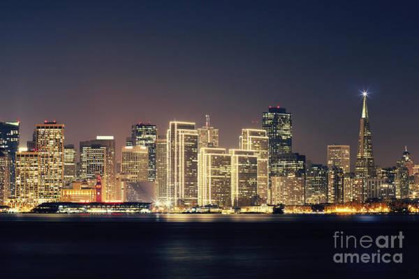Wall Art - Photograph - San Francisco Holiday Skyline by Jennifer Ramirez