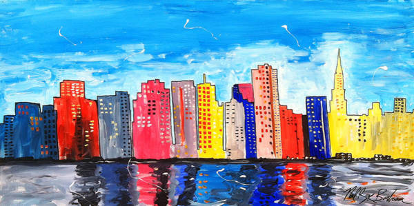 Painting - San Francisco Cityscape by Neal Barbosa