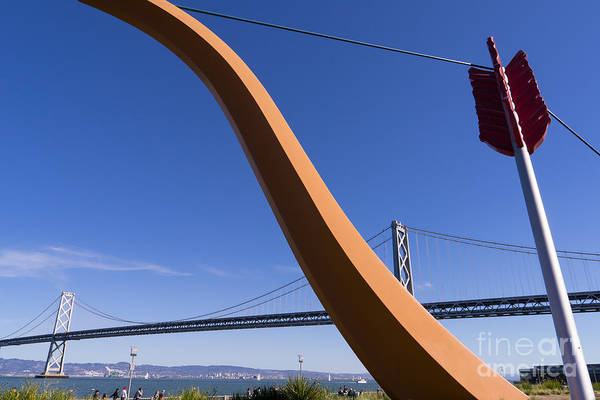 Photograph - San Francisco Cupids Span Sculpture At Rincon Park On The Embarcadero Dsc1815 by Wingsdomain Art and Photography