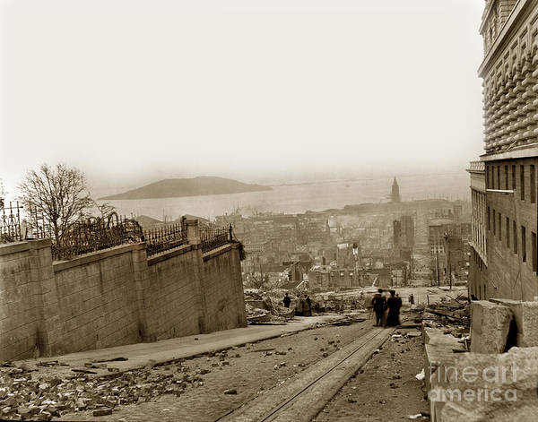 Photograph - San Francisco Earthquake And Fire Of April 18 1906 by California Views Archives Mr Pat Hathaway Archives