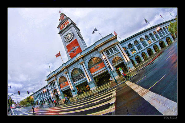 San Francisco Ferry Building Giants Decorations. Art Print