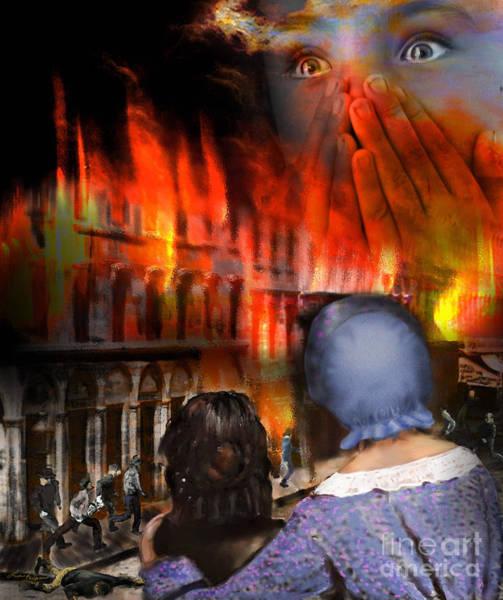Digital Art - San Francisco Fire by Lisa Redfern