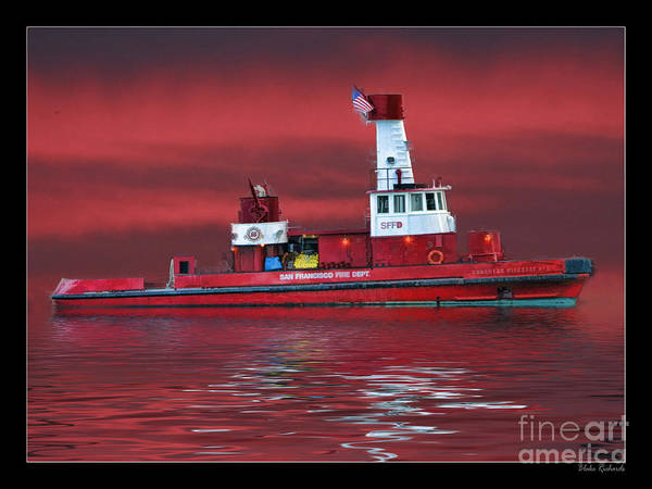 Photograph - San Francisco Fireboat No 2 by Blake Richards