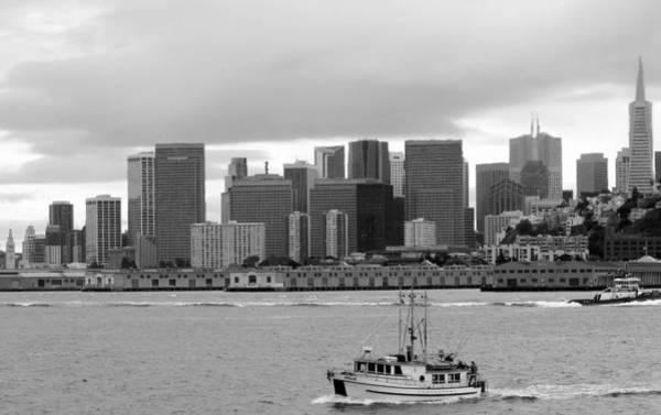 Photograph - San Francisco Fishing Boat Downtown by Jeff Lowe