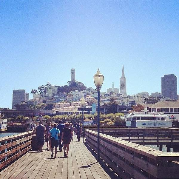 Wall Art - Photograph - San Francisco From Fisherman's Wharf :) by Hillary Weiss