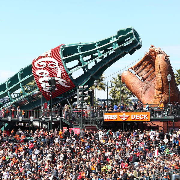 Photograph - San Francisco Giants Baseball Ballpark Fan Lot Giant Glove And Bottle 5d28241 Square by Wingsdomain Art and Photography