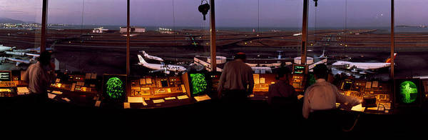 Runway Photograph - San Francisco Intl Airport Control by Panoramic Images