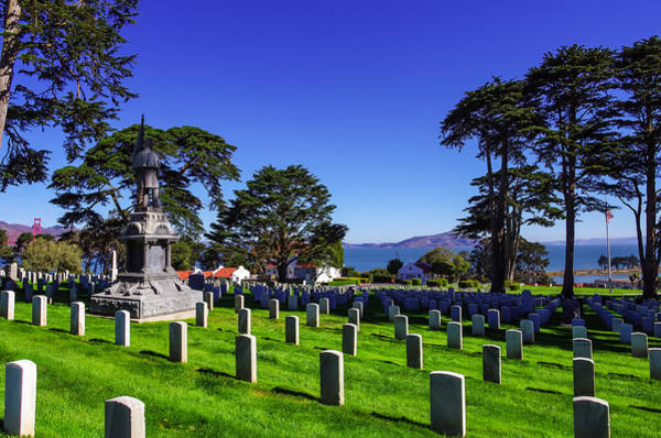 Wall Art - Photograph - San Francisco National Cemetery by Scott McGuire