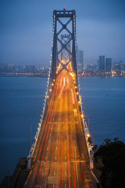 West Bay Photograph - San Francisco - Oakland Bay Bridge by Adam Romanowicz