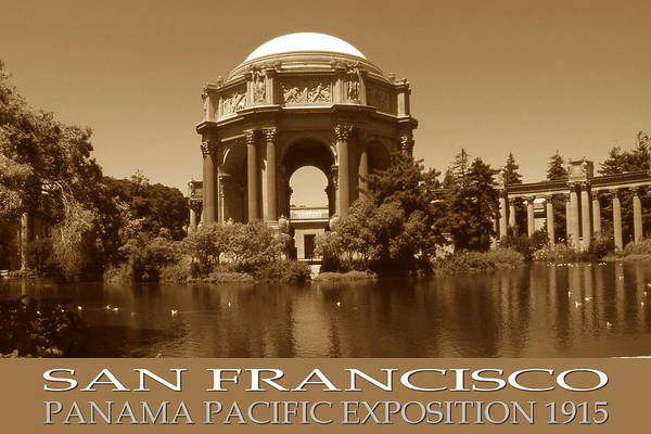 Photograph - San Francisco Poster - Panama Pacific Exposition 1915 by Peter Potter