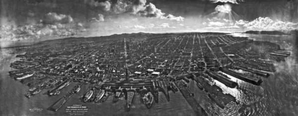 San Francisco Harbor Photograph - San Francisco Panorama by Underwood Archives