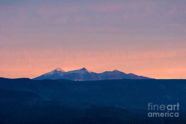 Photograph - San Francisco Peaks At Sunrise by Ron Chilston