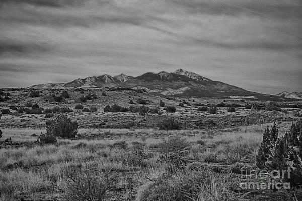 Wupatki Photograph - San Francisco Peaks-black And White by Douglas Barnard
