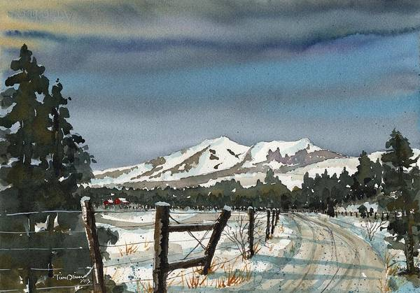 Flagstaff Painting - San Francisco Peaks by Tim Oliver