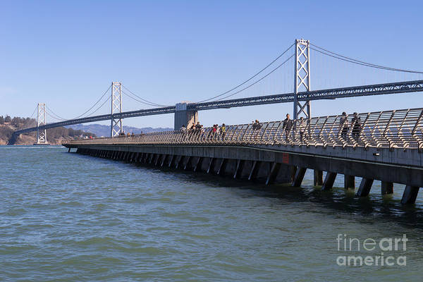 Photograph - San Francisco Pier 14 At The Bay Bridge On The Embarcadero Dsc01781 by Wingsdomain Art and Photography