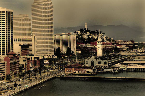 Photograph - San Francisco Pier From The Bridge by Maggy Marsh