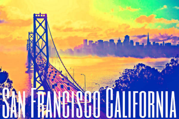 Digital Art - San Francisco Postcard by Michelle Dallocchio