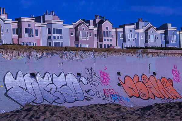Condos Photograph - San Francisco Sea Wall by Garry Gay