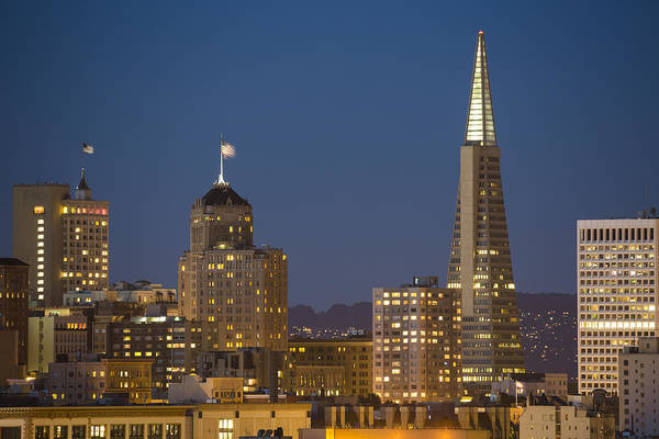 Photograph - San Francisco Skyline At Dusk by Adam Romanowicz