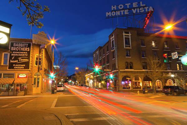 Flagstaff Photograph - San Francisco Street At Dusk by Chuck Haney