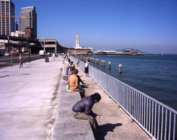 Photograph - San Francisco Waterfront 1975 by Lee Santa