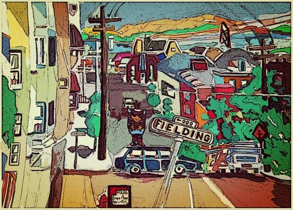 Wall Art - Painting - San Francisco Wild Mouse Ride by Mindy Newman
