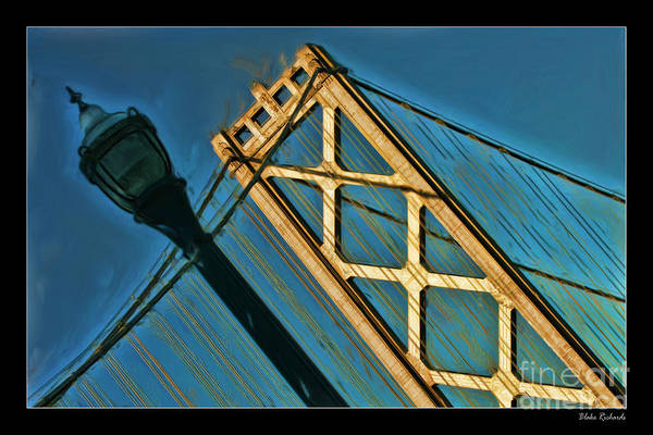 Photograph - San Francisico Bay Bridge And Light by Blake Richards