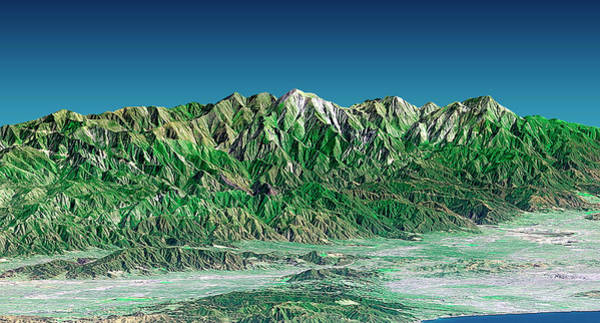 Photograph - San Gabriel Mountains by Nasa/science Photo Library