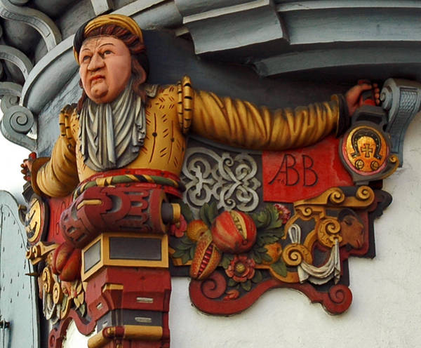 Photograph - San Gallen Balcony Carving by Ginger Wakem
