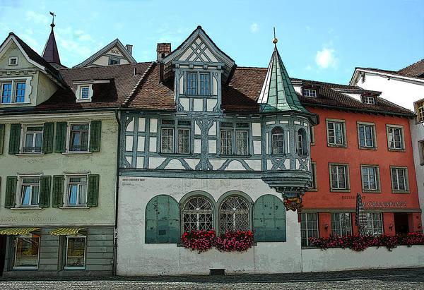 Digital Art - San Gallen  Switzerland Architecture by Ginger Wakem