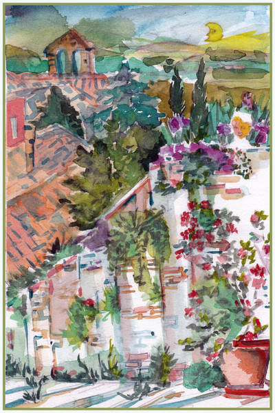 Wall Art - Painting - San Gimignano Italy by Mindy Newman