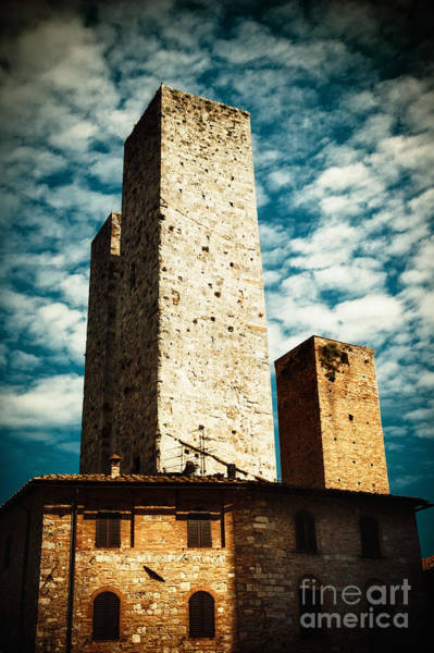 Photograph - San Gimignano Towers by Silvia Ganora