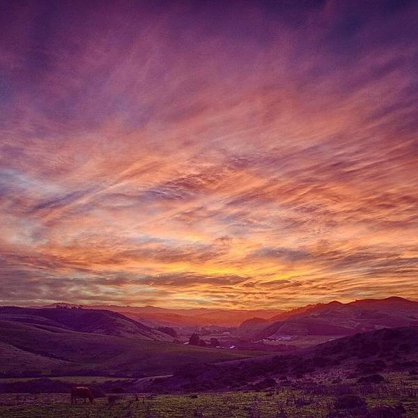 Wall Art - Photograph - San Gregorio Valley Just Before Sunrise by Kevin Henney