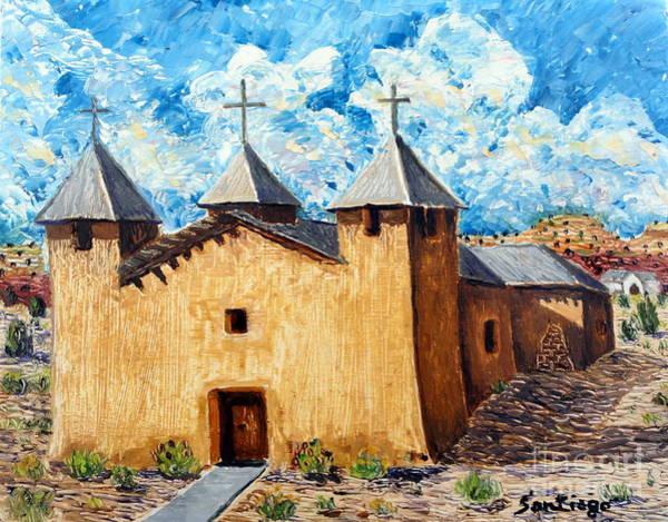 Painting - San Jose Church by Santiago Chavez
