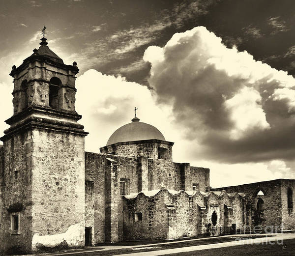Photograph - San Jose Mission In San Antonio Texas by Gerlinde Keating - Galleria GK Keating Associates Inc