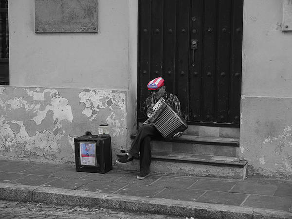 Photograph - San Juan Accordion Player II by Richard Reeve