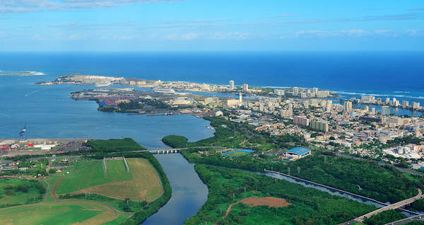 Photograph - San Juan Aerial View by Songquan Deng