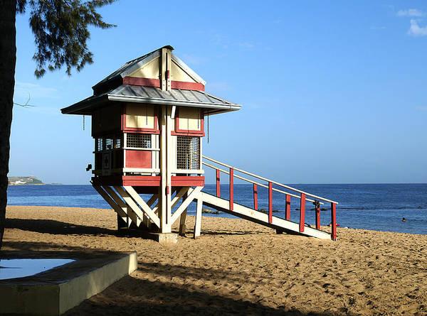 Photograph - San Juan - Balneario El Escambron Lifeguard Hut by Richard Reeve