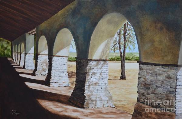 Mary Rogers Painting - San Juan Bautista Mission by Mary Rogers
