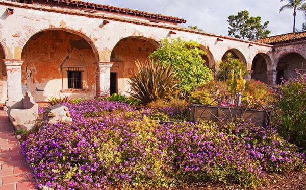 San Juan Capistrano Mission Flower Garden Art Print