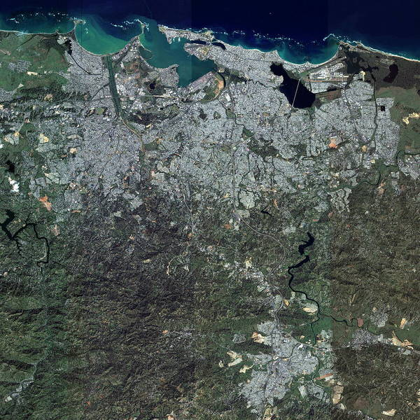 City Centre Photograph - San Juan by Geoeye/science Photo Library