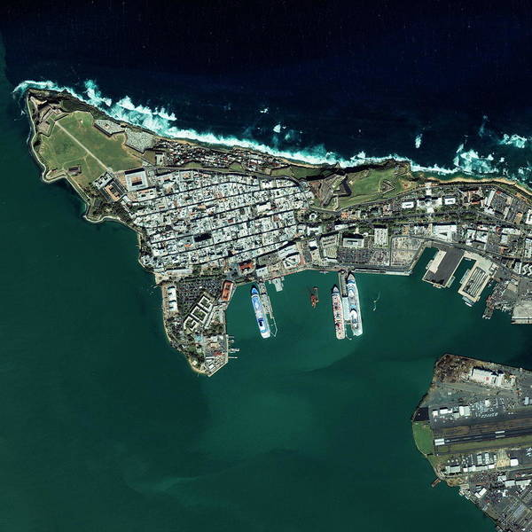 Wall Art - Photograph - San Juan Harbour by Geoeye/science Photo Library