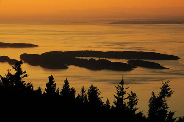 Mount Moran Photograph - San Juan Islands From Mount by Michel Hersen