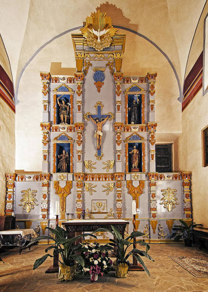 Photograph - San Juan Mission Altar by Andy Crawford