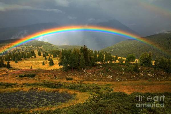 Photograph - San Juan Mountains Rainbow by Adam Jewell