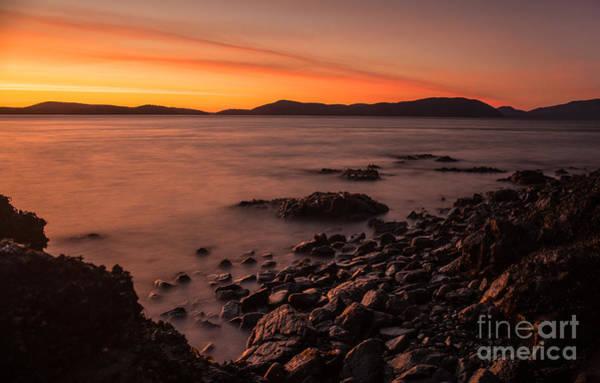 Wall Art - Photograph - San Juans Golden Sunset Tides by Mike Reid
