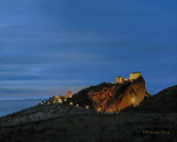 Wall Art - Painting - San Leo Castle by Cecilia Brendel