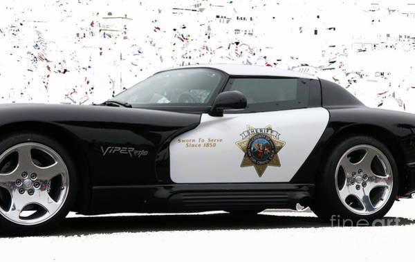 Photograph - San Luis Obispo County Sheriff Viper Patrol Car by Tap On Photo